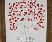 Thumbprint Tree with Bench Detail Size X-Large fits 220 and up Thumbprints