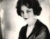 Postcard. Tallulah Bankhead, 1925. American actress of stage, screen talk-show host, and bonne vivante fashioniste. Photograph James Abbe