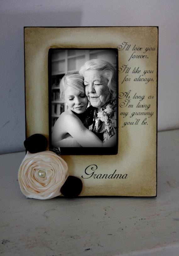 Grandma Gift Wedding Frame Bride Keepsake Personalize Picture
