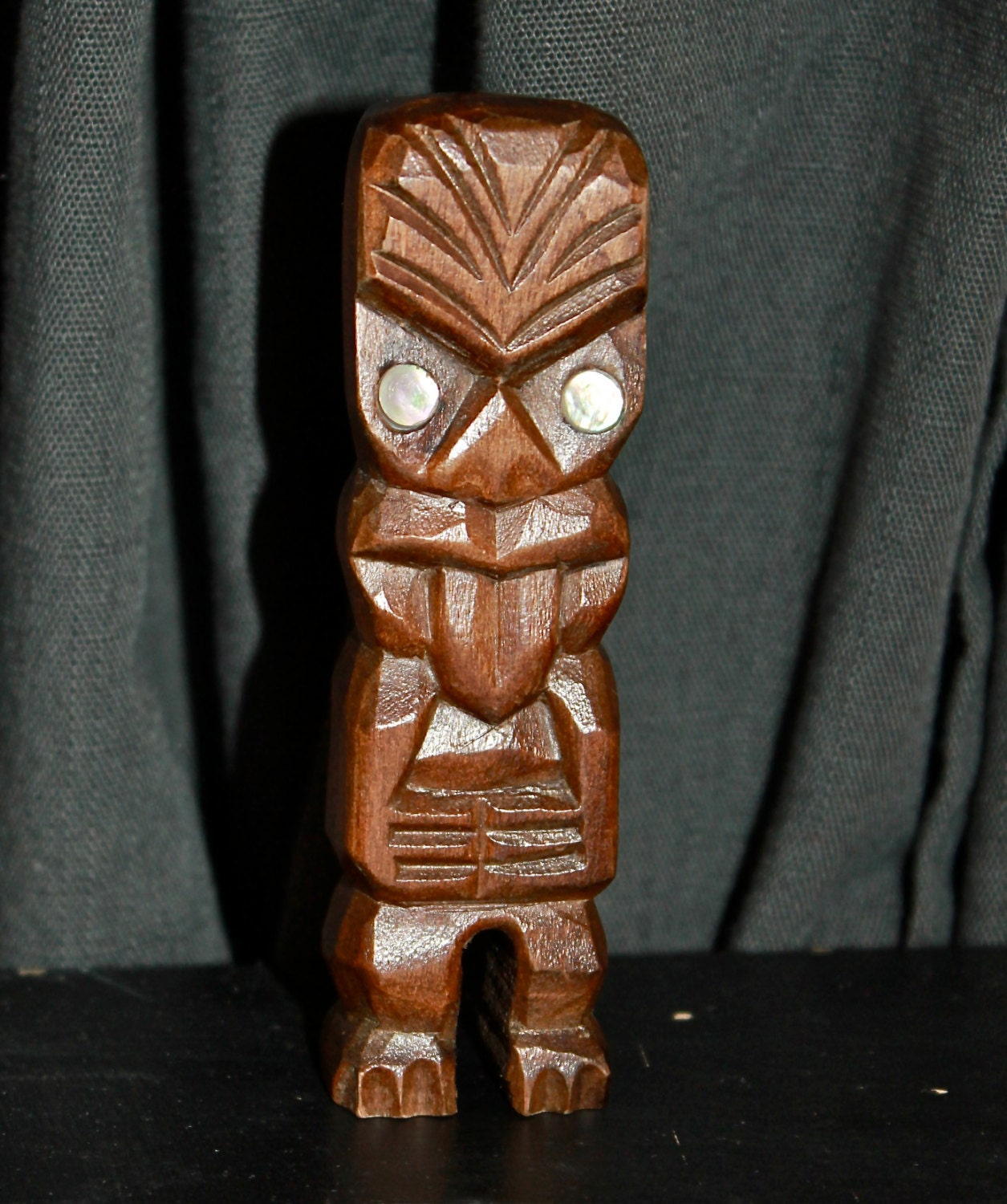 Vintage polynesian home decor mini maori teko teko for Household decorative items