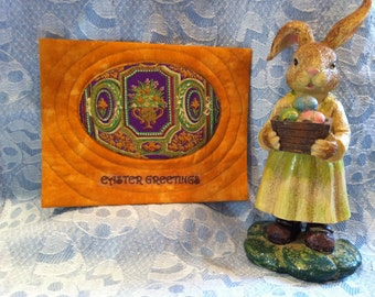 Quilted Easter Postcard