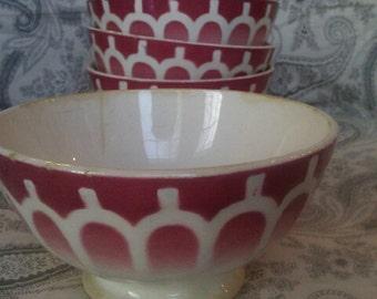 Vintage French Café Bowl