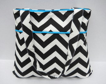 Chevron Purse Diaper Bag Zig Zag Handbag Made to Order