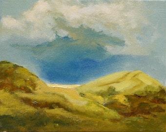 "California original oil painting bay area hills 8""x10"" Jan Smiley"