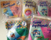 5 Vintage 1989 McDonald's Happy Meal Funny Fry Friends Fry Guys Fry Kids