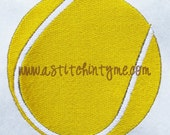 Mini Filled Tennis Ball Machine Embroidery Design