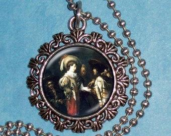 Fortune Telling Art Pendant, Barroque Resin Pendant, Jan Cossiers Art, Photo Pendant Charm