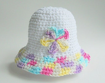 9 Months To Adult Hat 12 15 18 24 Month Toddler Baby Cotton Summer Cap Teen White Spring Beanie Pink Yellow Purple Blue Flower Ready To Ship