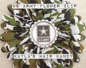 US Army Flower Clip
