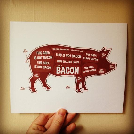 Pig Butcher Diagram Butcher Chart Kitchen Sign Kitchen