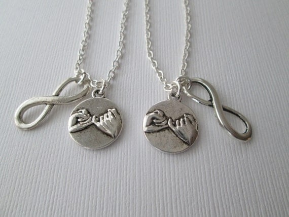 best friend necklace best friend gift 2 pinky promise