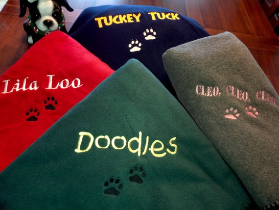Personalized Dog Or Cat Blankets Large Size By