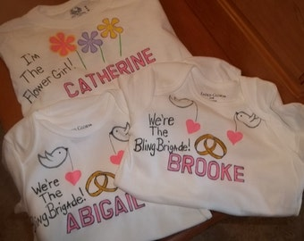 Personalized Flower Girl Shirt Wedding Reception Or Gift