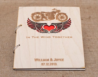 Wedding Guest Book for Motorcycle Lovers or Bridal Shower Advice Book Christmas Gift