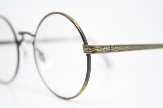 vintage glasses frames round retro shaped 1980s vintage eyewear nos deadstock vintage eyeglasses