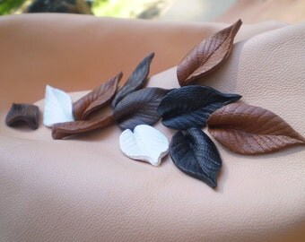 "1"" leather leaf."
