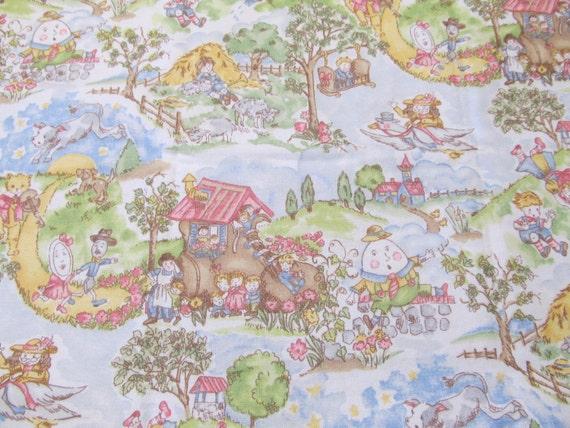 Nursery rhyme flannel fabric cotton flannel diy burp cloth for Nursery cotton fabric