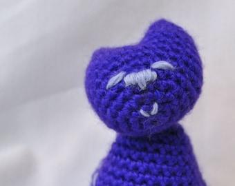 Sitting Pretty Purple Kitty amigurumi plush toy