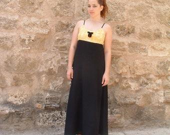 free shipping YARON MINKOVSKI big designer in ISRAEL excellent dress never been worn circa 1980's