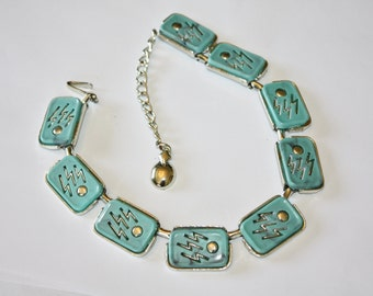 Vintage Necklace Faux Turquoise Thermoset 1950s Jewelry
