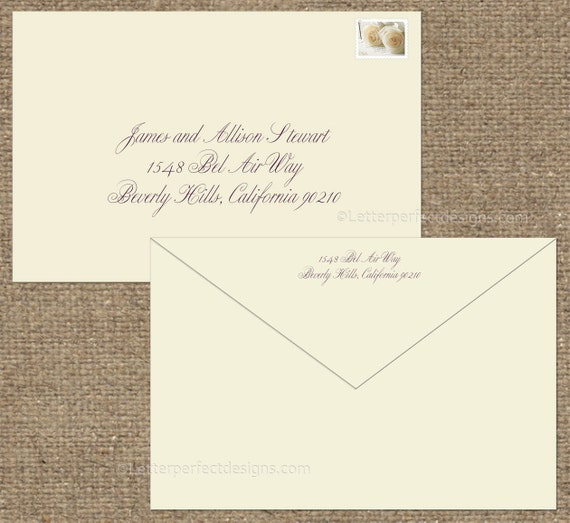 Wedding Digital Calligraphy Envelope By Letterperfectdesign