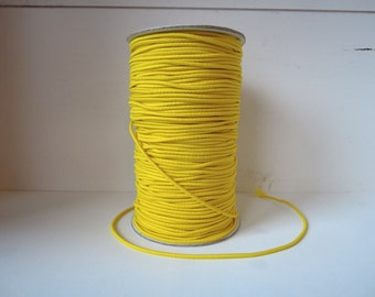 Elastic cord - lemon YELLOW - 2 mm x 2 meters
