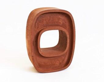 Letter O, Vintage sign letter, Block Letter, Standing letter, Capital O, Wood Letter O, Western Style O