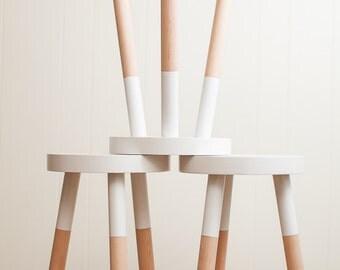 handmade wooden stool (18 inch).