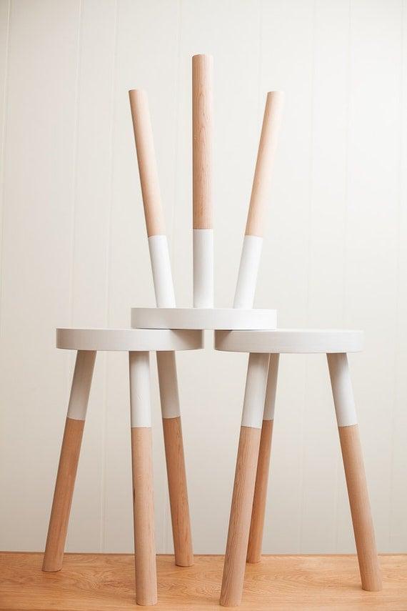 Handmade Wooden Stool 18 Inch