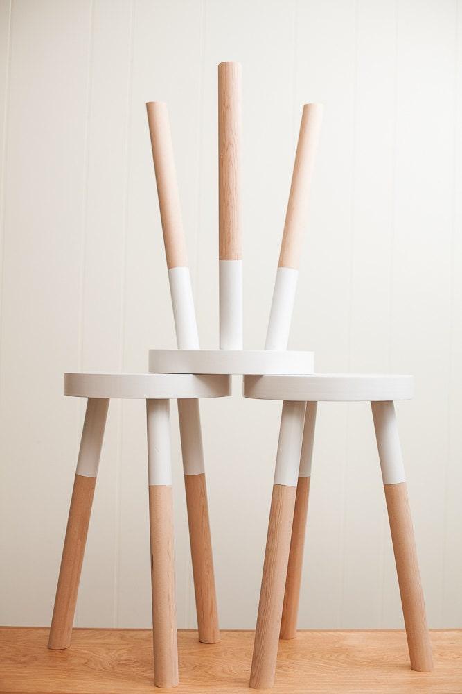 Handmade wooden stool inch