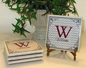 Ceramic Coaster Sets Personalized