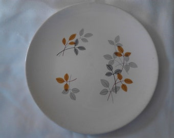 Vintage  50's Knowles Foliage  China Dnner Plate  ECS