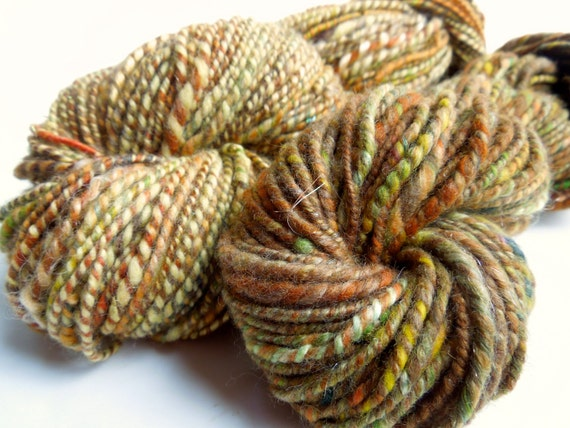 RESERVED for Karen      Waving Wheat Handspun Yarn, 2 ply, Merino Wool