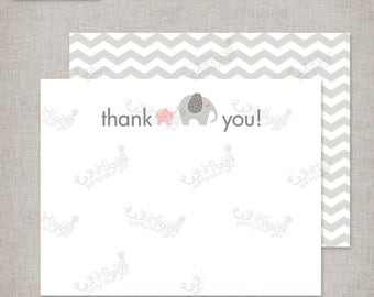 """Instant Download Thank You Notes - """"Baby of Mine"""" Baby Shower Theme"""