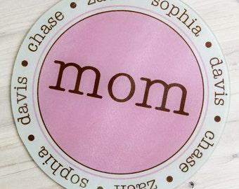 Custom Cutting Board, Glass Cutting Board, Custom Kitchen Décor, Personalized Décor, Mom Cutting Board, Gift for Mom, Grandmother Gift