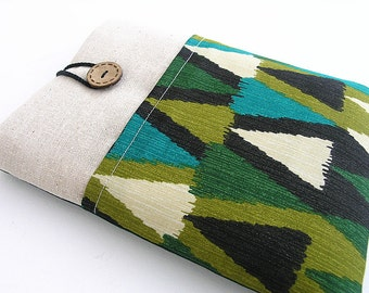 Ikat Kindle Sleeve Pocket , Kindle fire sleeve cover, Nook cover,Google Nexus 7 case.