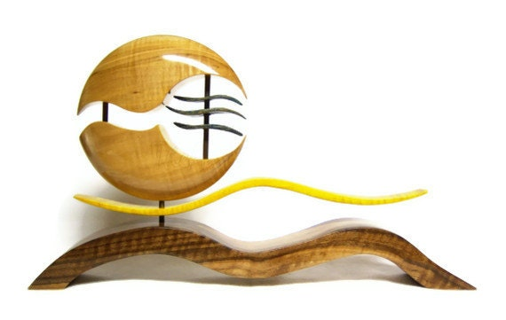 50% OFF SALE - Wood Art Sculpture - Oriental Collection - Hand dyed and Sculpted Wood / Art by Akita Wood Works