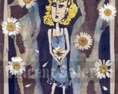 DaisyMaid Art on Wood by Vincent Salerno