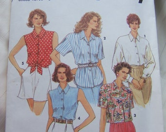 Simplicity 8302 uncut womens blouse size 6, 8, 10 and 12