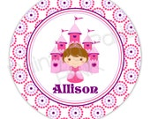 "Princess Personalized 10"" Melamine Plate, 20 oz. Bowl or 2 Piece Set 
