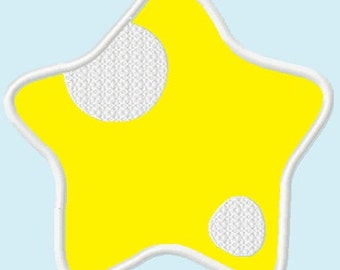 Cute Yellow Star APPLIQUE Embroidery Designs / 3 sizes  INSTANT DOWNLOAD
