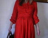 Lady in Red Beautiful Versatile Vintage Dress