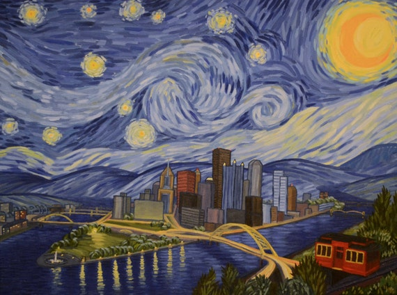 starry night over pittsburgh