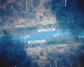 Hollywood Waltz - Hollywood sign - multiple exposure - Holga - medium format - Los Angeles, California - 5x5 square matte print