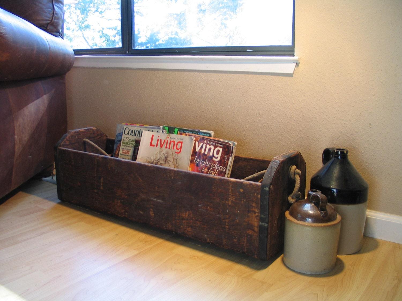 Wood Carpenter S Saw Box Tool Caddy Box By Itzvintagedarling