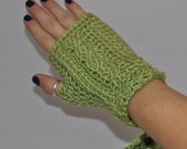 Green Fingerless Gloves, Perfect for St. Patrick's Day