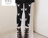 Mini Kitty Cats Womens Black Leggings Style