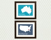 Personalized Christmas Gift For a Boyfriend, Girlfriend, Wife or Husband - Maps with Hearts