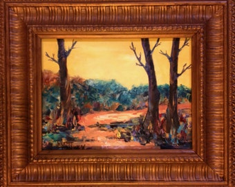 """ORIGINAL OIL PAINTING """"The Path Home""""  Colorful Landscape By Artist Judie Mulkey"""