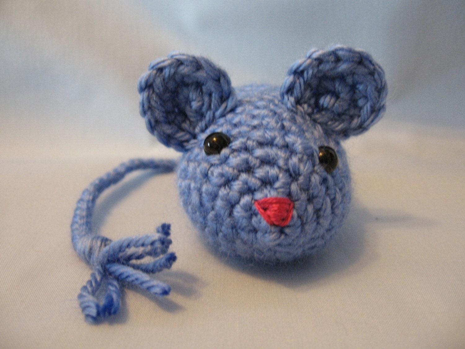 Cat toy crochet mouse catnip filled berry blue by hooked2012 for How to crochet cat toys